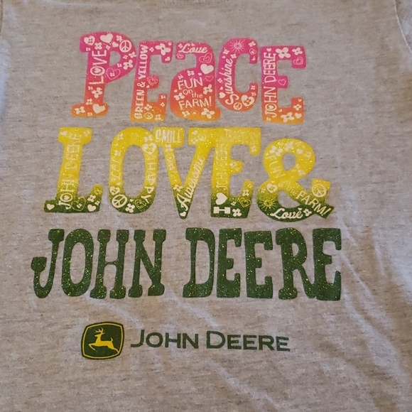 John Deere Other - 3/$20 John Deere peace & love gray shirt girls